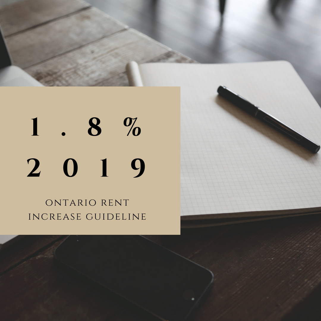 2019 Rent Increase Guideline for Ontario